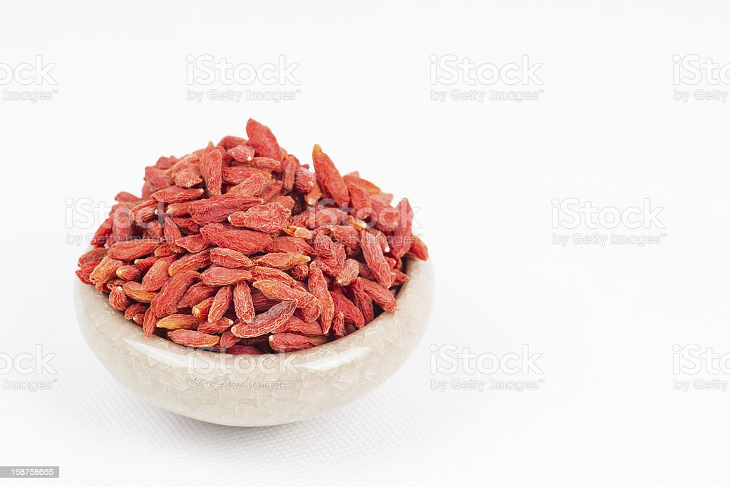 dried wolfberry fruits royalty-free stock photo