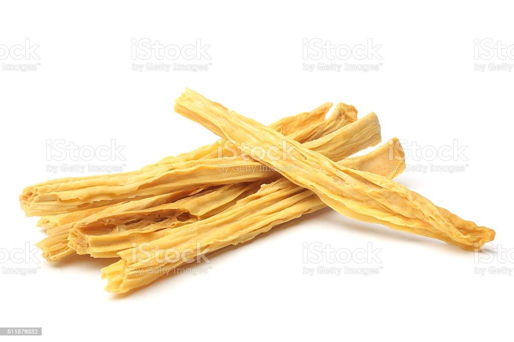 Dried yuba sticks or Fuzhu stock photo