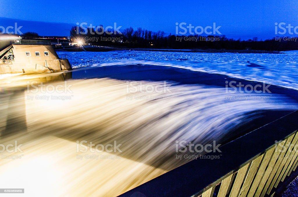 Treibeis auf der Elbe stock photo