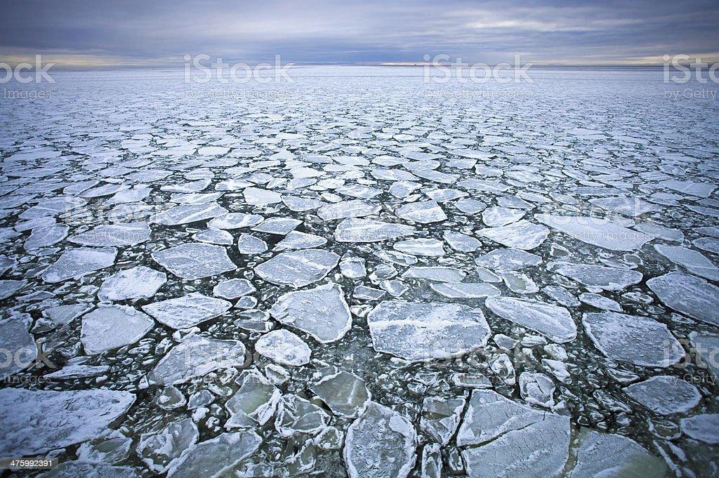 drift ice stock photo