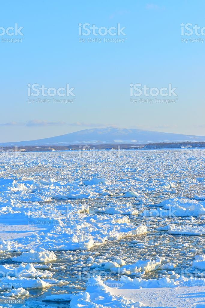Drift ice stock photo