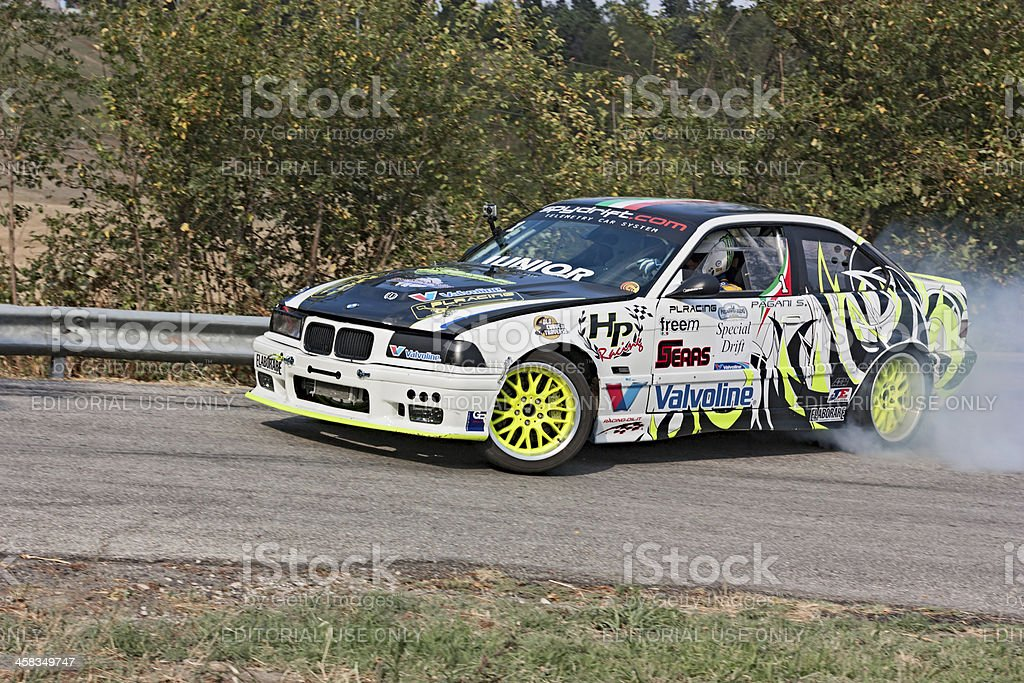 drift racing car BMW royalty-free stock photo
