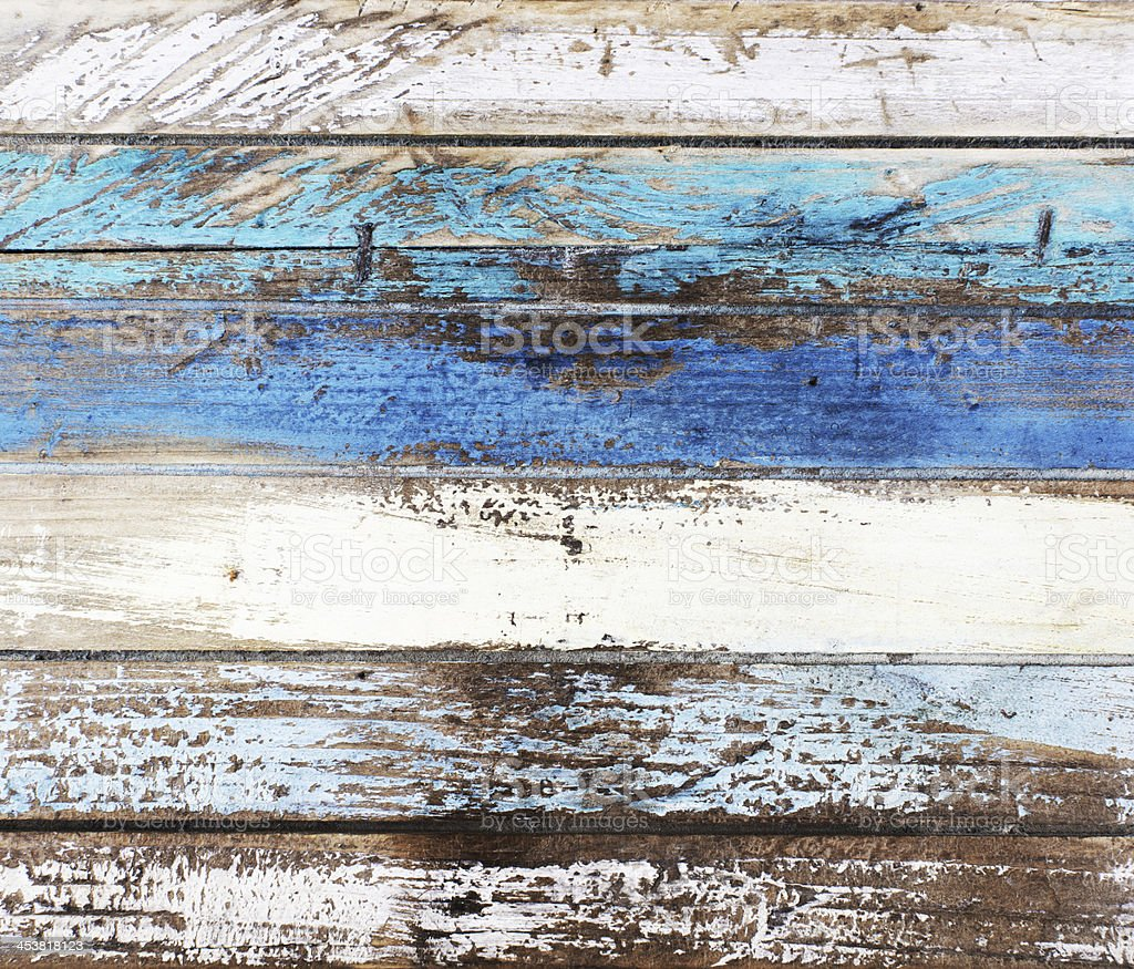 Drift wood in nautical colors stock photo