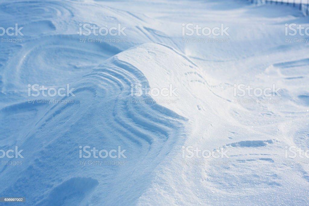 Drifted Snow in Council Idaho stock photo