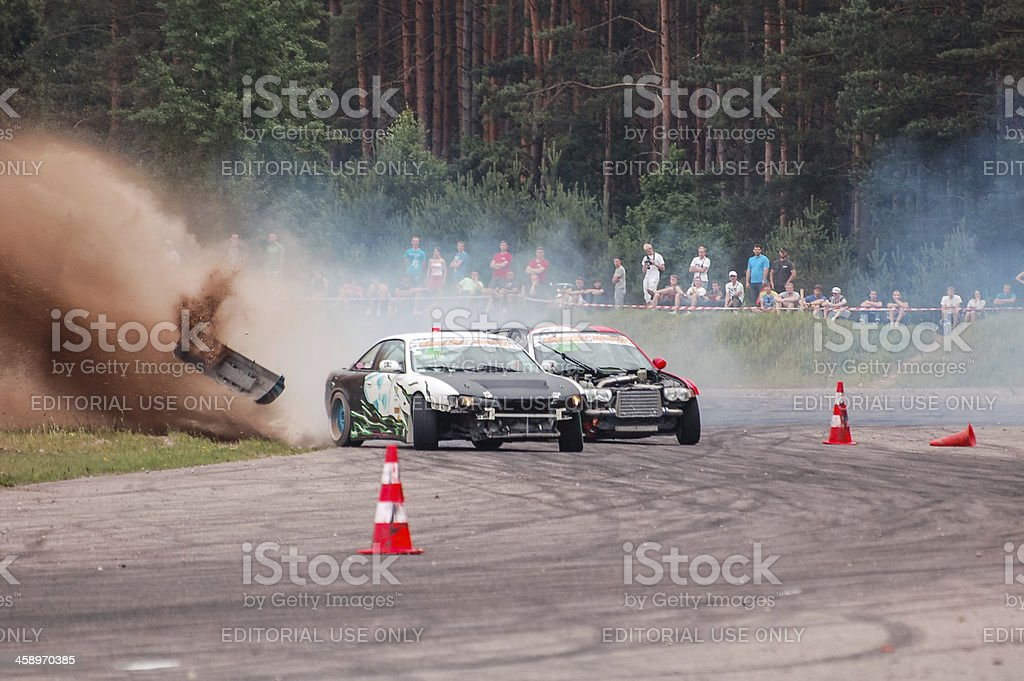 Drifting hard stock photo