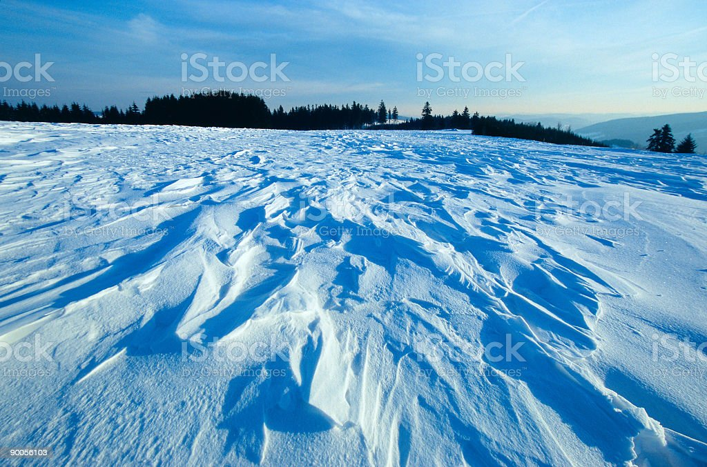 Drifting snow II royalty-free stock photo
