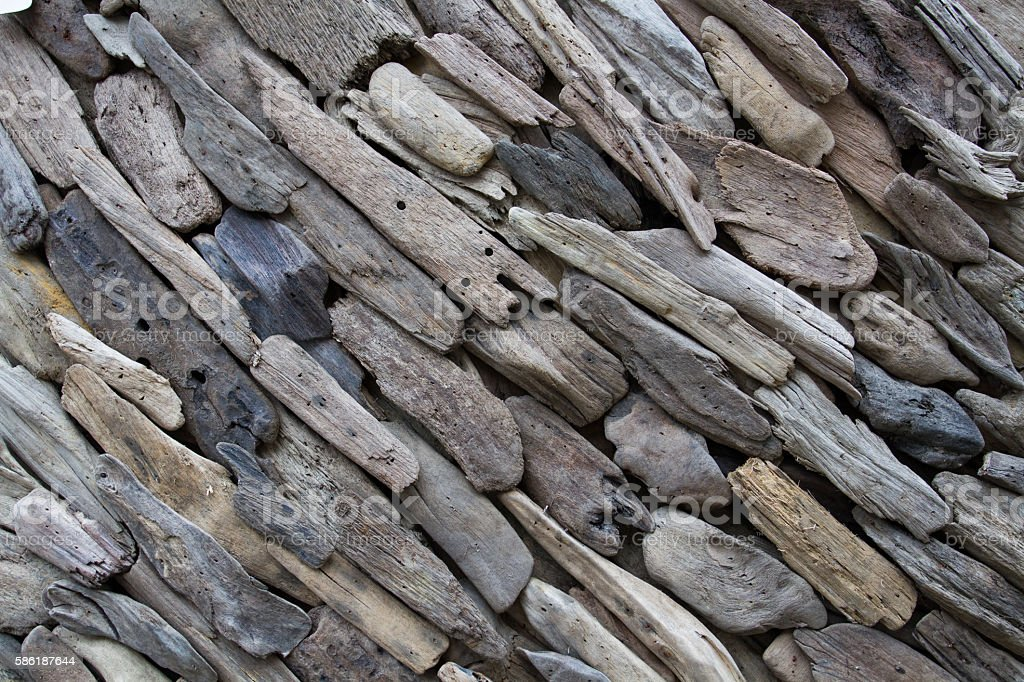 Driftwood Background stock photo