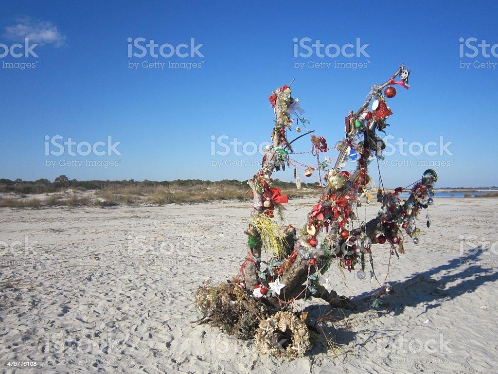 Driftwood Christmas Tree stock photo