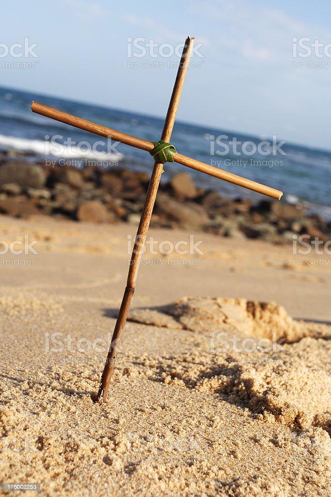 driftwood crucifix royalty-free stock photo