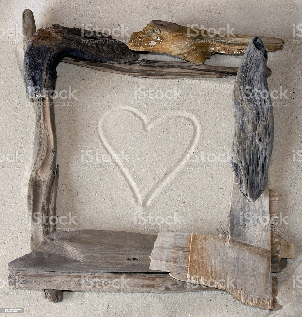 Driftwood Frame royalty-free stock photo