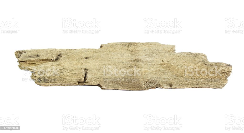 driftwood isolated on white background stock photo