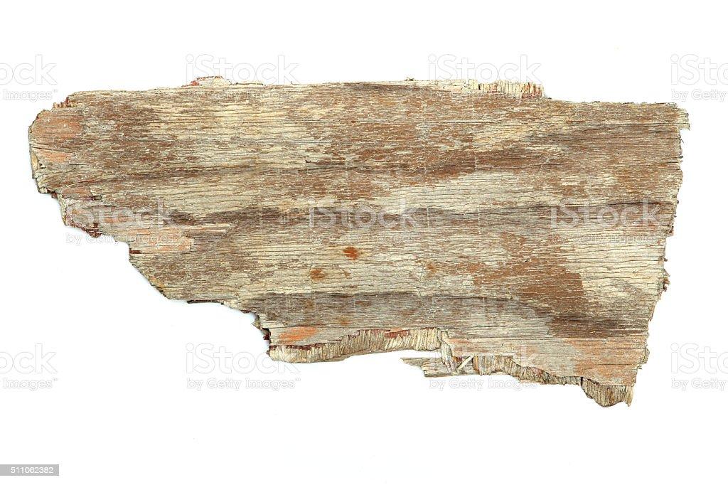 Driftwood Plywood Wood Grain White Background Jetsam stock photo
