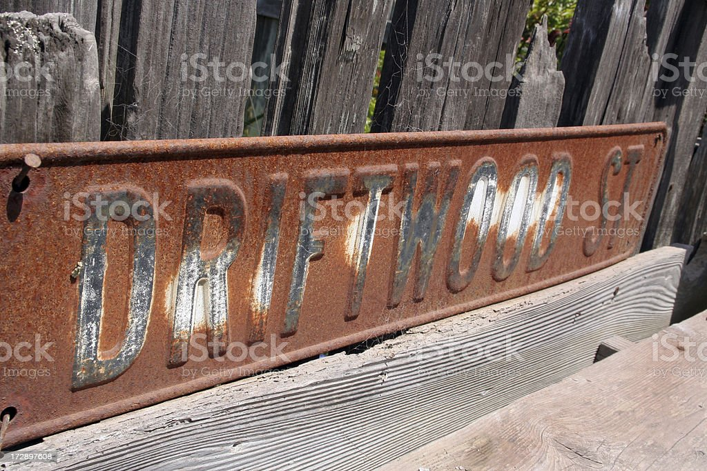 Driftwood Street royalty-free stock photo