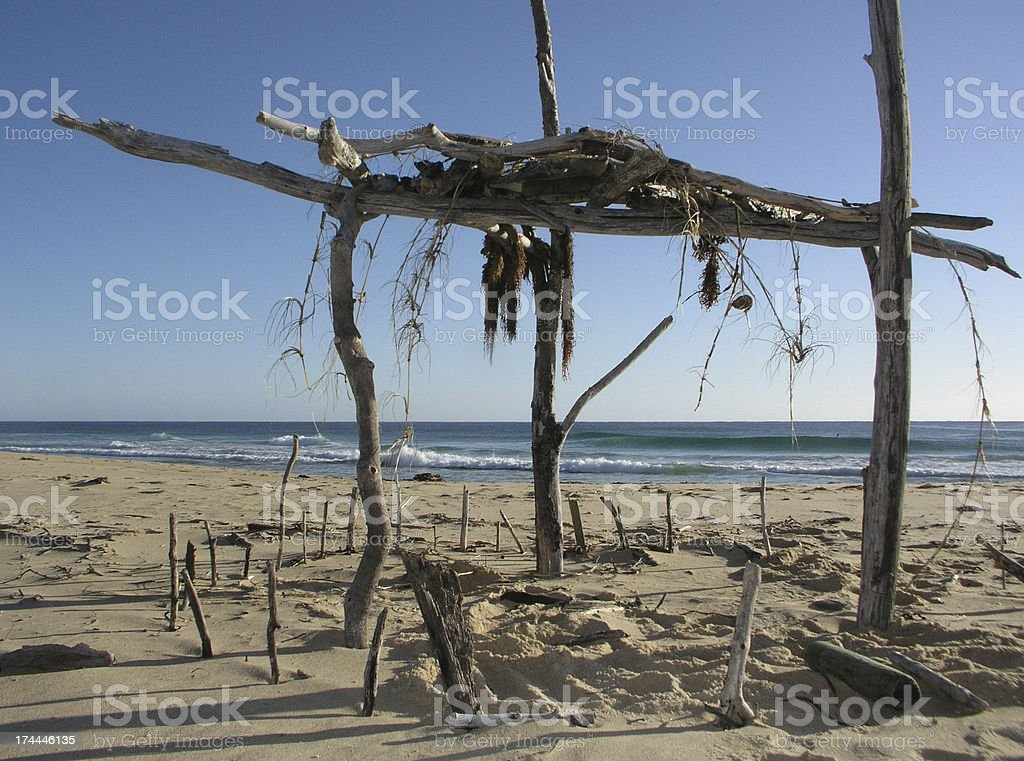 Driftwood Structure stock photo