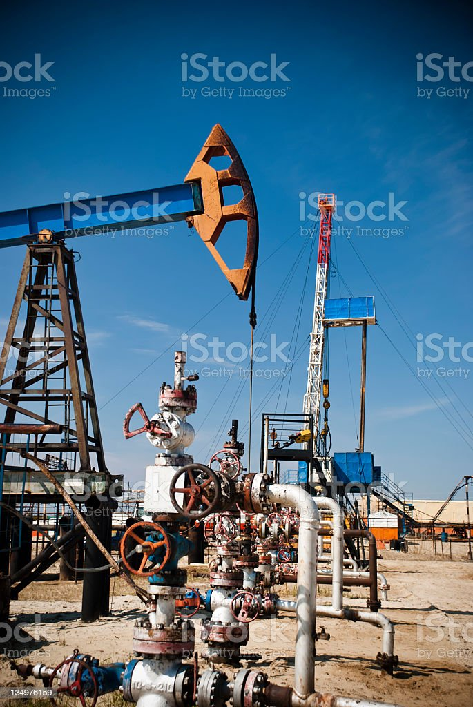Drill and Produce royalty-free stock photo