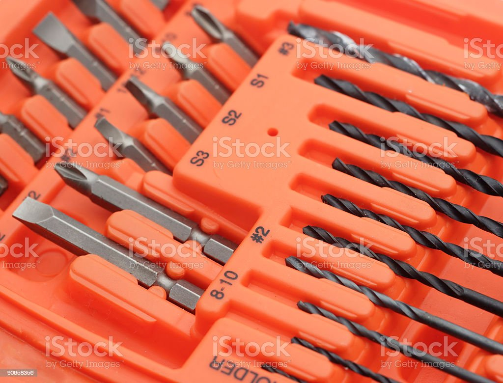 Drill and screw bits stock photo