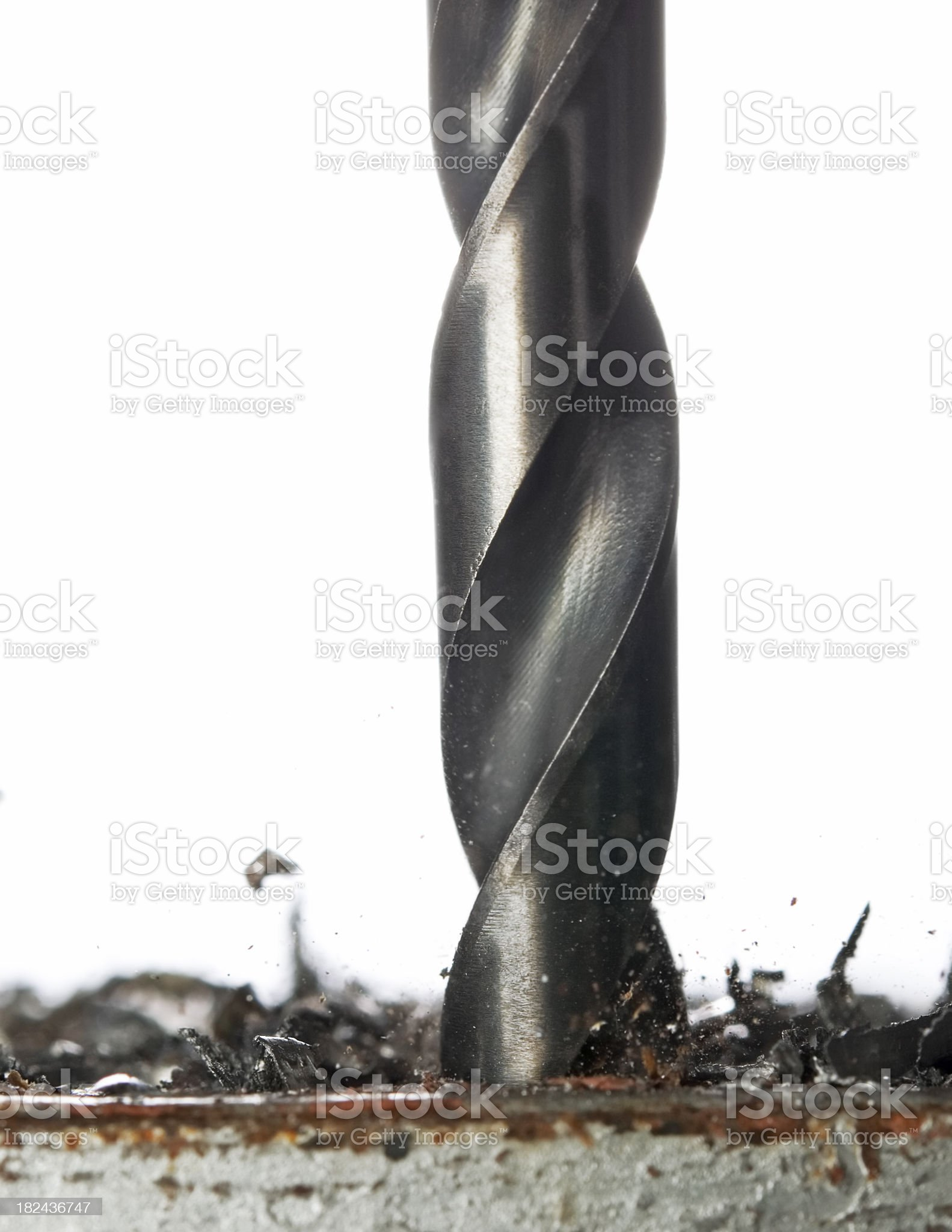 drill bit in action royalty-free stock photo
