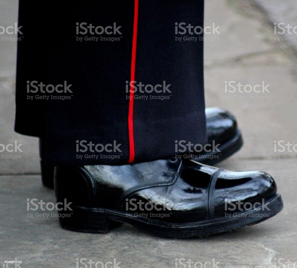 Drill Boots stock photo