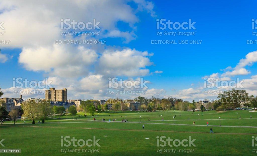Drill field at Virginia Tech stock photo