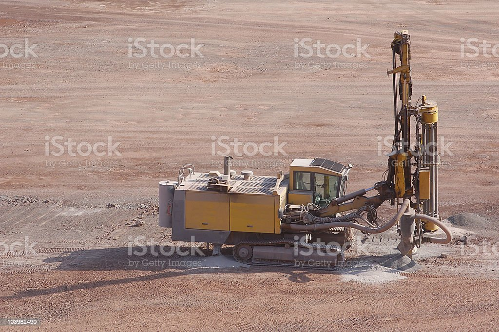 Drill in a quarry royalty-free stock photo