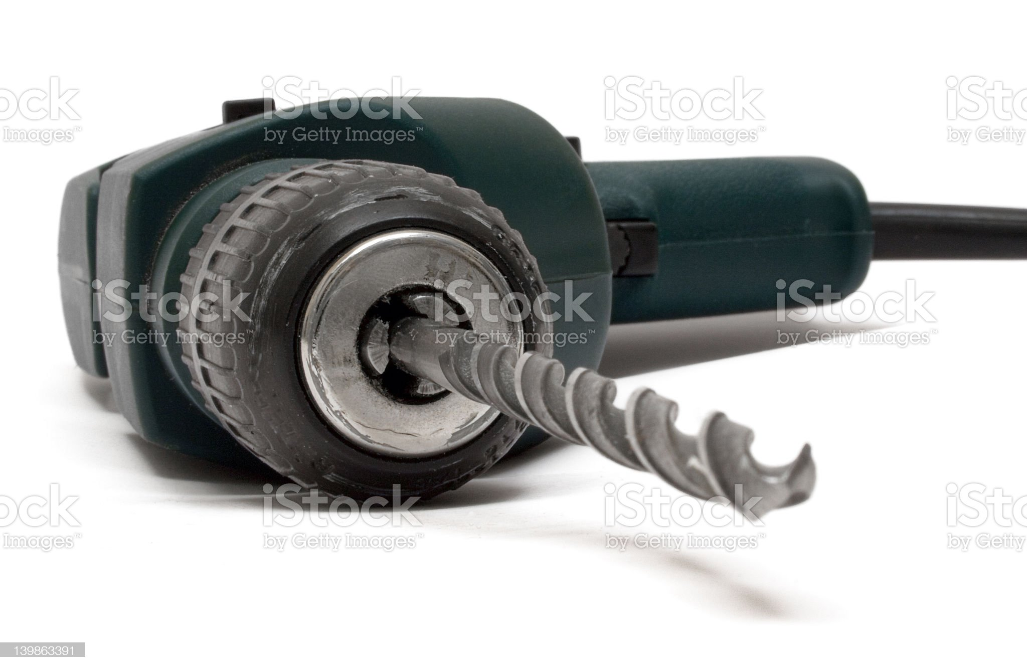 Drill Machine (Front View) royalty-free stock photo