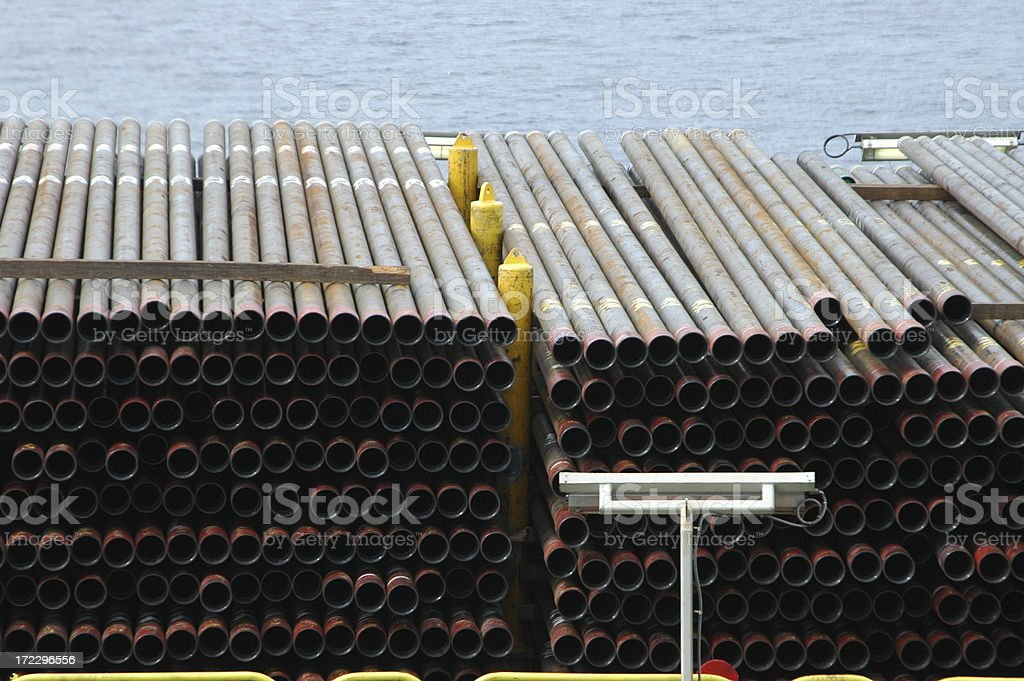 Drill pipes royalty-free stock photo