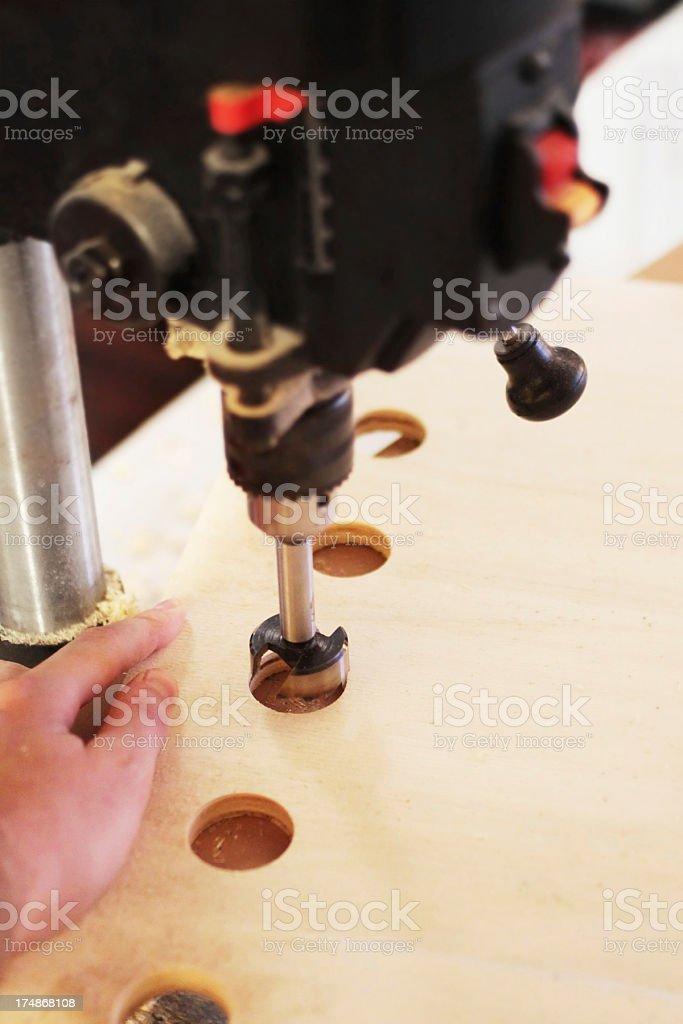 Drill Press at work royalty-free stock photo