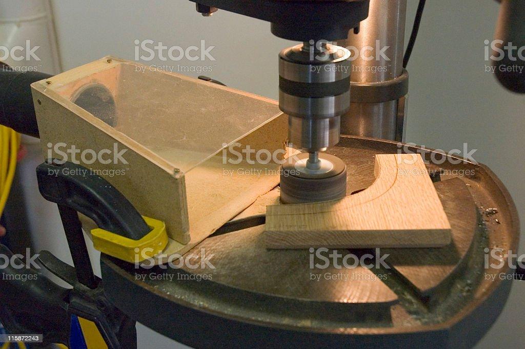 Drill Press Sander royalty-free stock photo