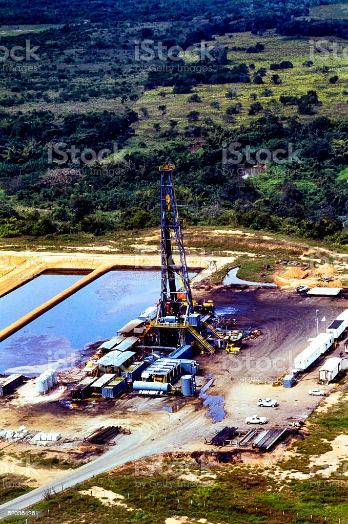 Drill Rig Aerial View stock photo