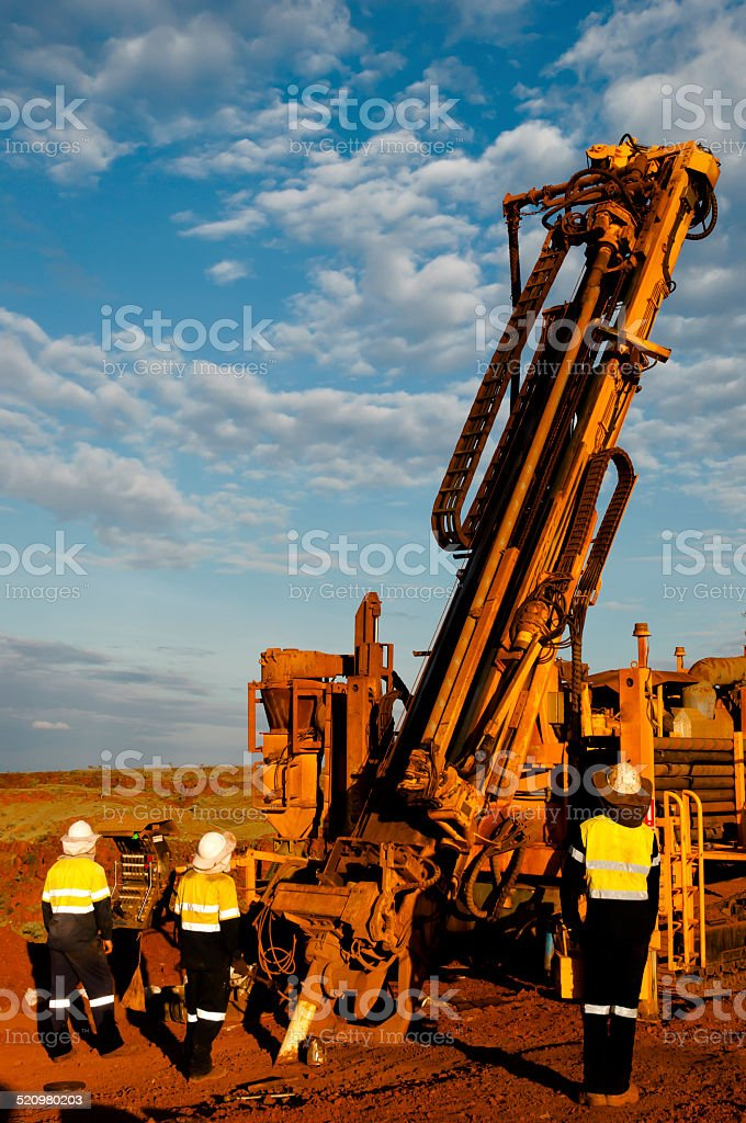 RC Drill Rig stock photo