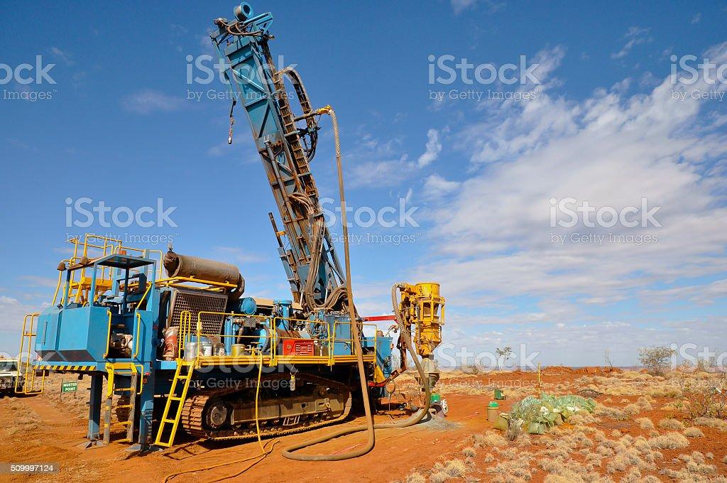RC Drill Rig - Pilbara - Australia stock photo