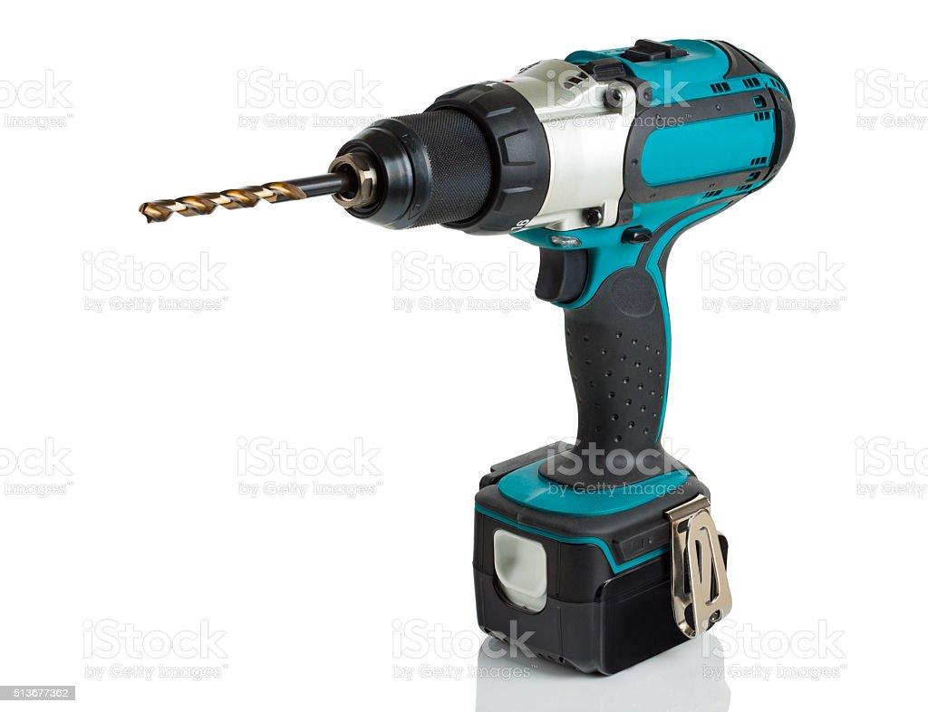 drill, screwdriver, battery stock photo