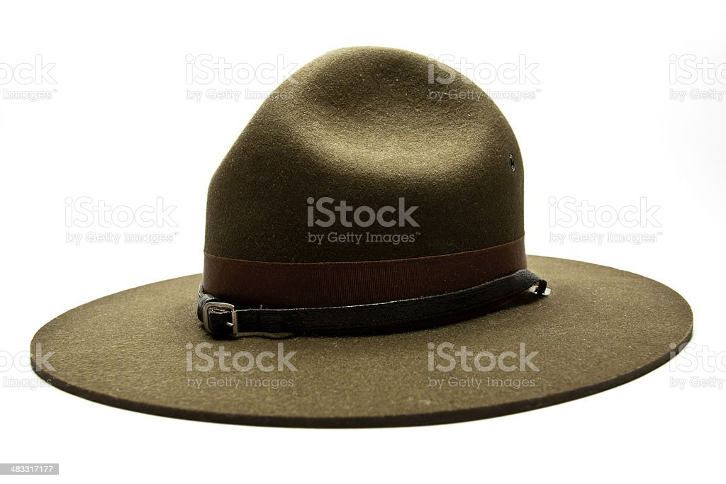 Drill Sergeant Hat stock photo