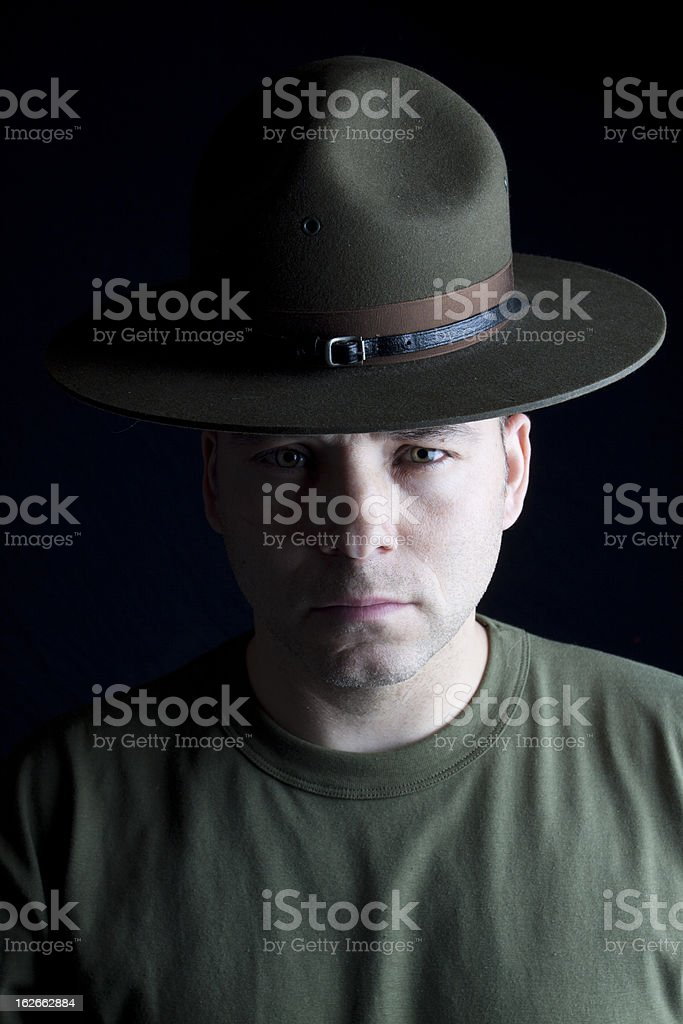Drill Sergeant royalty-free stock photo