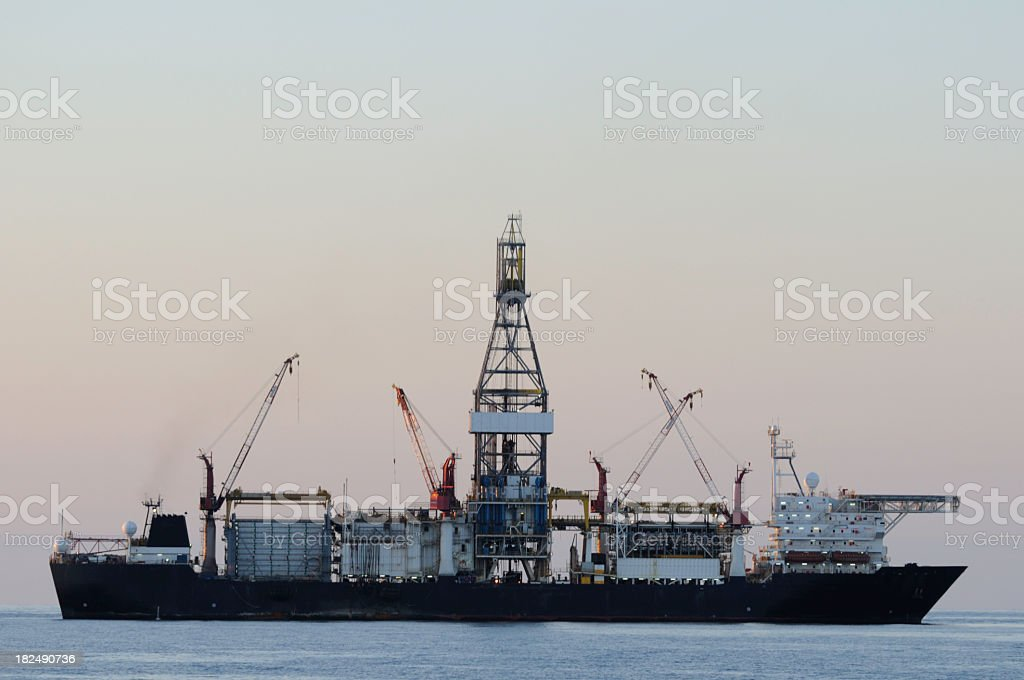 Drill ship royalty-free stock photo