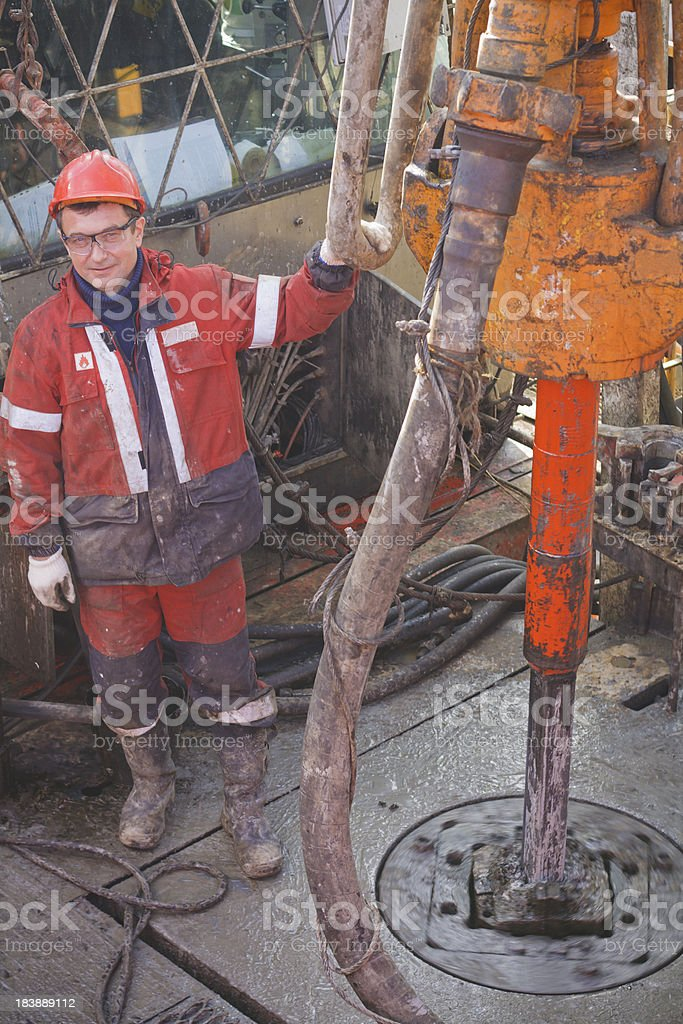 Driller at drill floor royalty-free stock photo