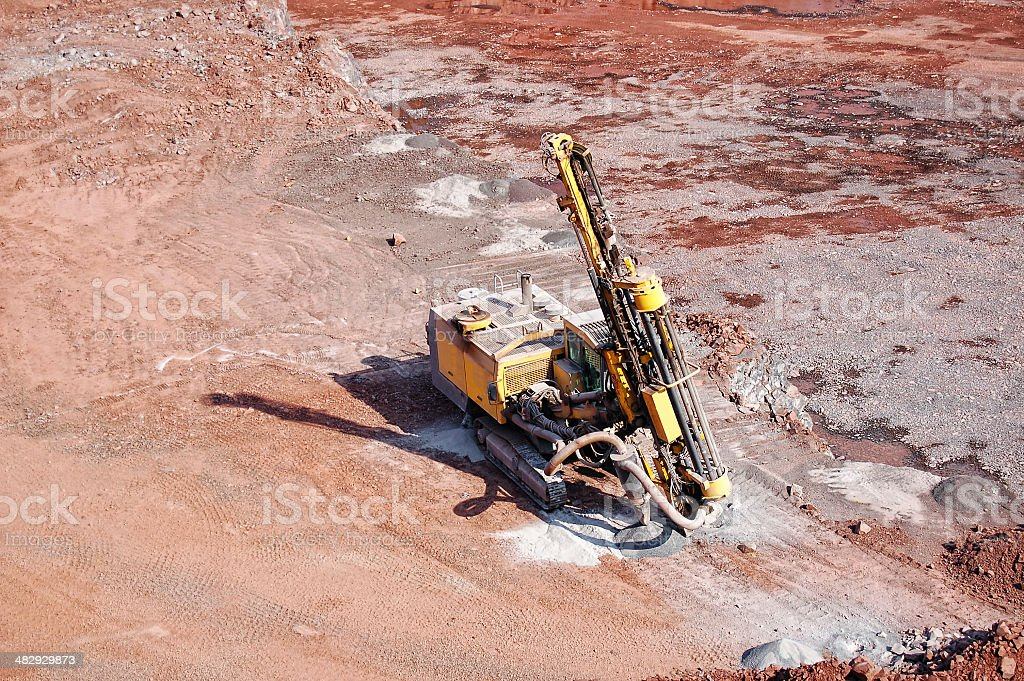 driller in a quarry stock photo