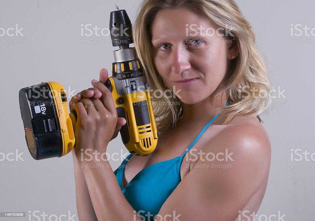 Drillin time stock photo