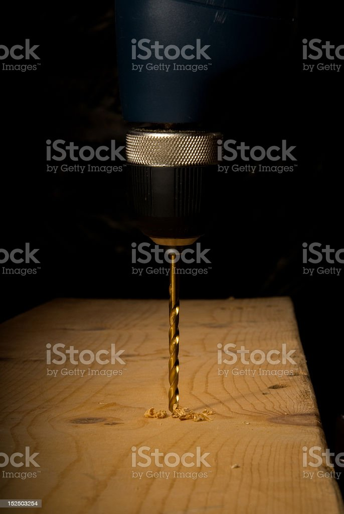 Drilling a hole stock photo