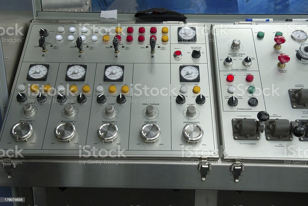 Drilling Console royalty-free stock photo