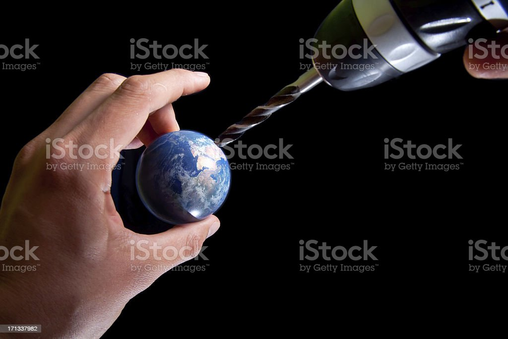 drilling earth royalty-free stock photo