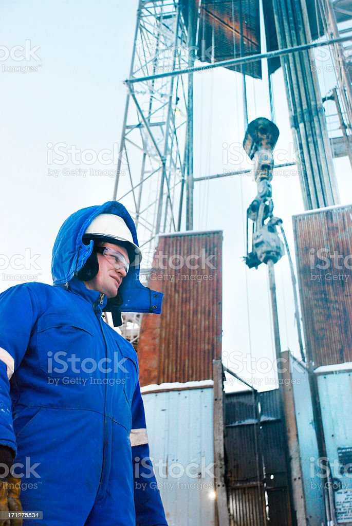 Drilling Engineer with gloves royalty-free stock photo
