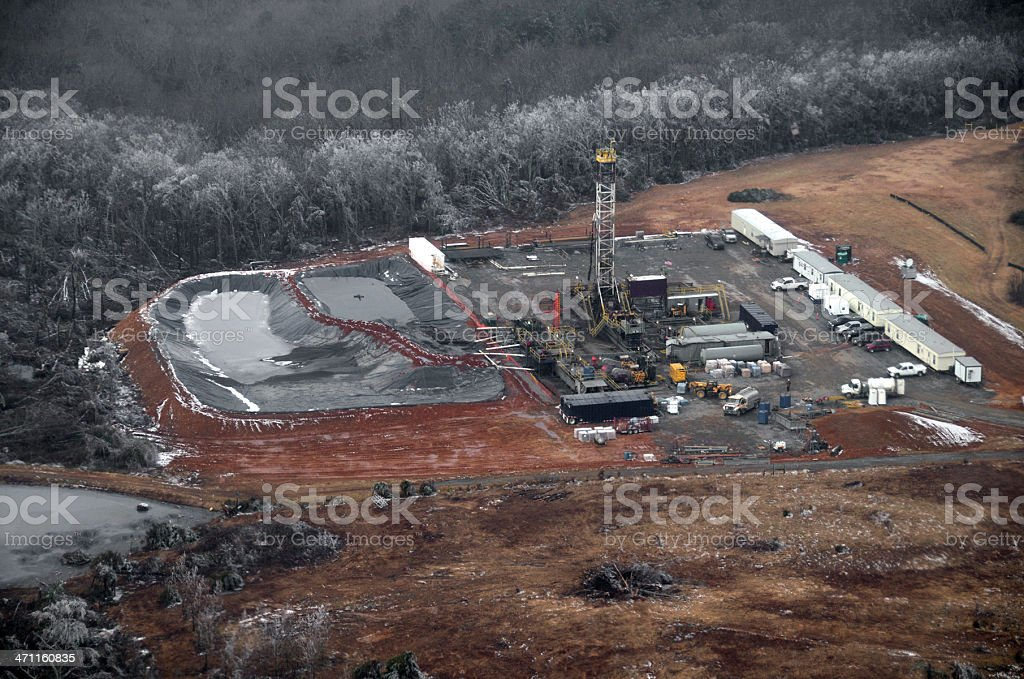 Drilling for Natural Gas stock photo