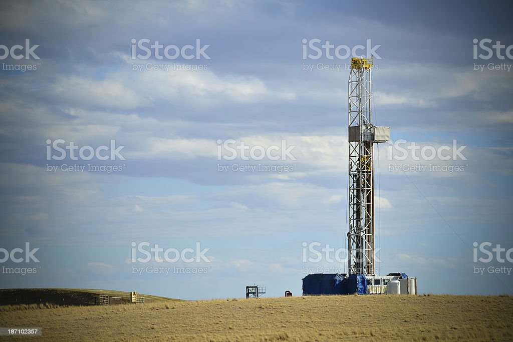 Drilling For Oil, Wyoming stock photo