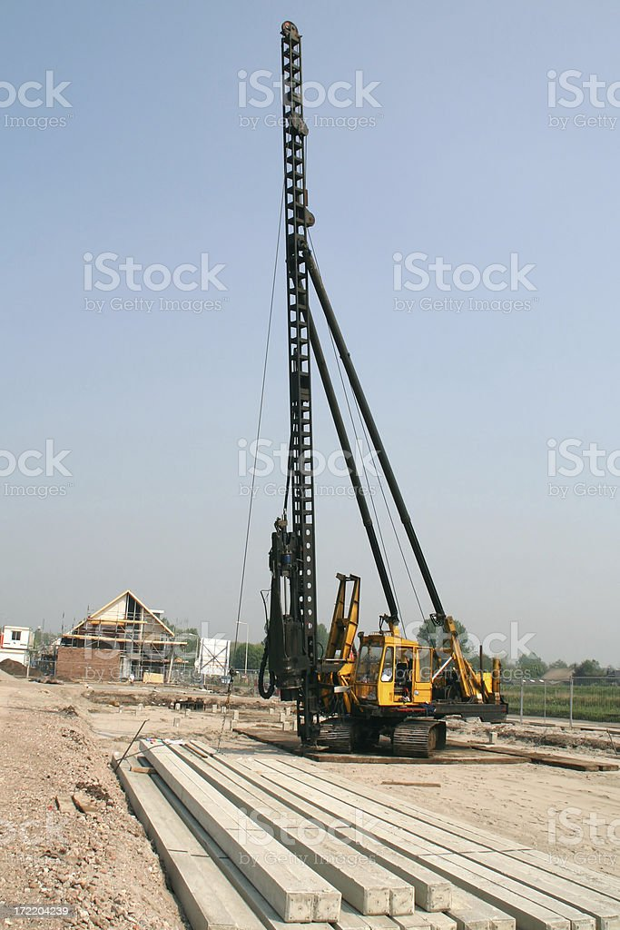Drilling machine at construction site # 1 royalty-free stock photo