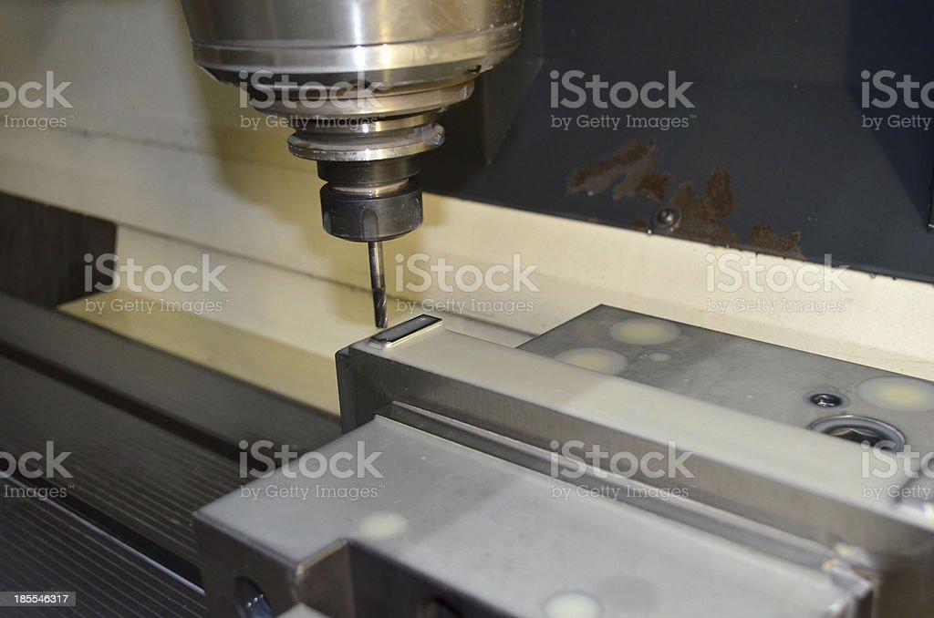 CNC drilling machine royalty-free stock photo
