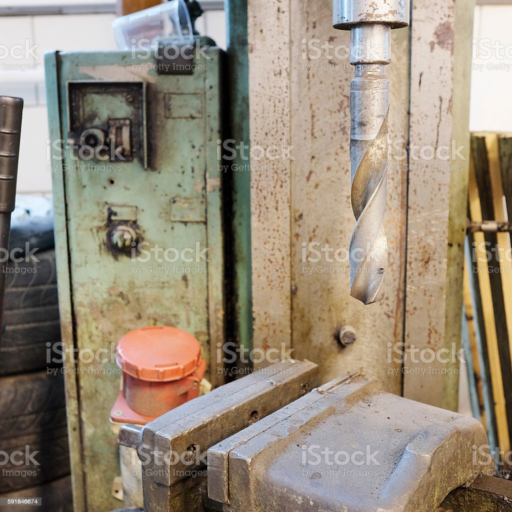drilling machine stock photo