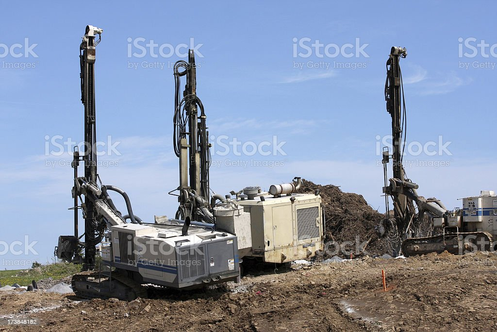 Drilling Machines royalty-free stock photo