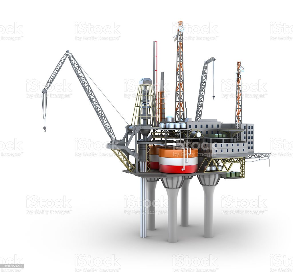Drilling offshore Platform royalty-free stock photo