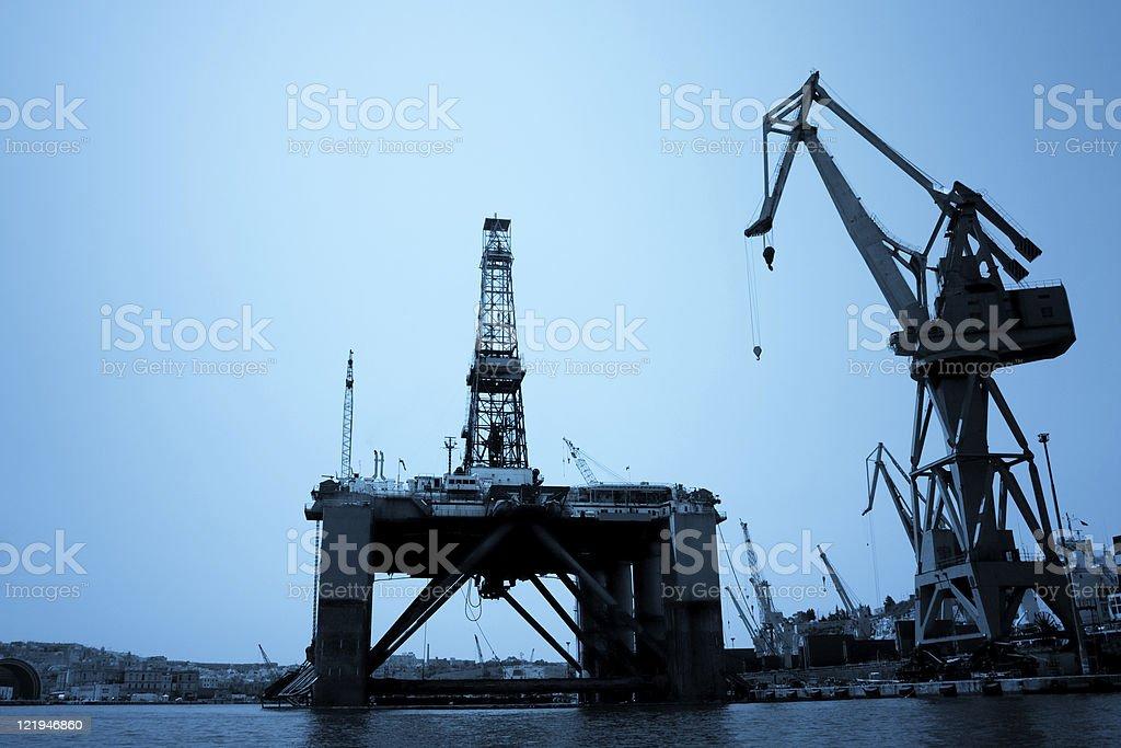 Drilling platform stock photo